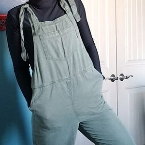Aerie Army Green Overalls